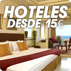 Hoteles - Ofertas de estancias desde 15€